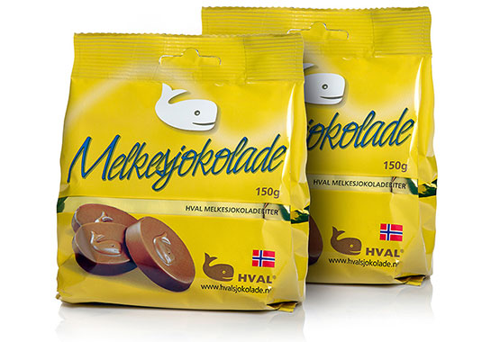 2 stk Ståposer Melkesjokolade